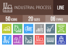50 Industrial Process Line Multicolor B/G Icons example image 1