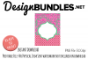 Mint and Pink Monogram Frame Perfect for Garden Flags example image 1