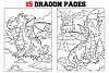 Coloring Pages For Kids - 15 Dragon Coloring Pages example image 1