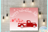 Happy Valentines Day Hearts Truck Svg Dxf Eps Png Pdf example image 2