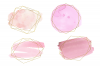 Pink and gold frames clip art, Watercolor design elements example image 3