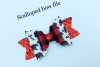 DIY hair bow template - Hair bow svg files - Scalloped bow example image 2
