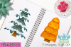 Christmas Trees Watercolor Clipart, Instant Download example image 3