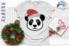 Santa Panda SVG   Christmas Panda SVG Cut File example image 2