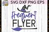 Frequent Flyer SVG DXF PNG EPS Cutting Files example image 1