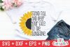 Sunflower Quote | Spring | SVG Cut File example image 1