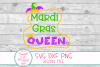 Mardi GrasQueen SVG, Jester Crown SVG, Mardi Gras SVG, DXF example image 2