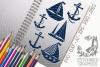 Sailing Boat SVG, Silhouette Studio, Cricut, Eps, Jpeg, Ai example image 1