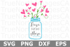 Love Grows Here - A Family SVG Cut File example image 3