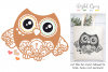 Owl SVG / EPS / DXF / PNG file example image 1