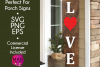 Love - Valentines Day SVG for Long Vertical Welcome Sign example image 1