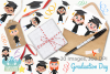 Graduation Day Clipart, Instant Download Vector Art example image 4