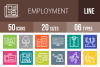 50 Employment Line Multicolor B/G Icons example image 1