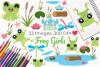 Frog Girls Clipart, Instant Download Vector Art example image 1