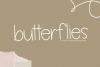 Butterflies - A Thin Handwritten Font example image 1