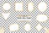 Elegant wedding geometric golden frames, lineal frames png example image 2