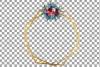 Watercolor elegant floral borders clip art. Wedding frames example image 11