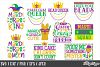 Mardi Gras SVG Bundle of 20 Designs, DXF, PNG, Cutting Files example image 2