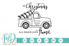 Vintage Truck - At Christmas All Roads Lead Home SVG example image 2
