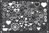 Simple Doodle Heart Clip Art Set example image 3