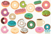 Yummy Donuts Clipart, Instant Download Vector Art example image 2
