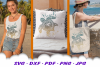 Beach Vibes Mandala Turtle SVG DXF Cut Files example image 3