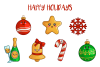 Merry Christmas - cute characters set example image 1