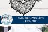 Santa Zentangle SVG | Christmas Santa Mandala SVG File example image 4