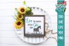 Farmhouse Inspirational Horse SVG DXF Comm example image 1
