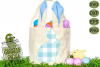 Plaid & Grunge Spring Easter Bunny 3 SVG Cut File example image 3