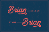 Brandon Smith - Handcrafted Monoline Font example image 5