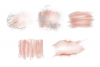Blush Pink and Silver Glitter Watercolor Backgrounds PNG example image 3