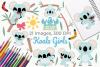Koala Girls Clipart, Instant Download Vector Art example image 1