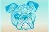 Bulldog Mandala Zentangle SVG Eps Png files for Cricut example image 2