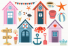 Beachside Cafe Clipart, Instant Download Vector Art example image 2