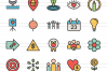 50 Community Linear Multicolor Icons example image 2