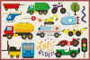 75 Transportation Vector Clipart & Seamless Patterns example image 2