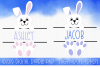Easter Bunny SVG | Monogram SVG | Silhouette & Cricut example image 1
