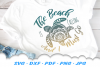 The Beach Is Calling Mandala Sea Turtle SVG DXF Cut Files example image 1