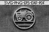Customizable Farm Tractor Circle Papercut Template, DXF, PDF example image 2