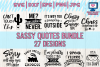 sassy quotes bundle svg, funny quotes, dxf, png, jpg, eps example image 1