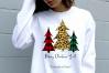 Buffalo Plaid Leopard Christmas Trees Sublimation Bundle example image 3