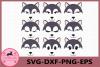 Wolf Face SVG, Animal face svg, Wolf Eyelashes Face example image 1