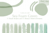 26 Sea Foam Green Brush Strokes and Abstract Pattern Element example image 1