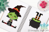 Wicked Witches 1 Clipart, Instant Download Vector Art example image 3