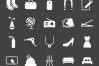 50 Household Objects Glyph Inverted Icons example image 2