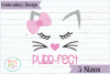 Purrfect Cat Embroidery Design example image 1