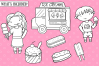 Ice Cream Truck Digital Stamps example image 2