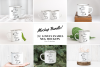8x Enamel Bundle mockup mugs Camp tin mug rustic mockups example image 1