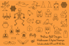 Halloween Digital Stamps Clipart example image 1